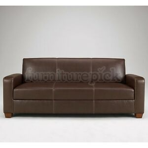 Faux leather flip flop couch