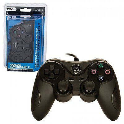 New BLACK - PS2 Controller (Sony PlayStation 2) Dual Analog Sticks (Dual Stick Game Pad)