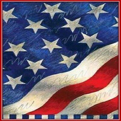 30 Custom Patriotic Flag Art Personalized Address Labels