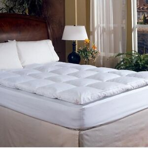 2 Inch Down Feather Bed King Size Mattress Topper Sleeping