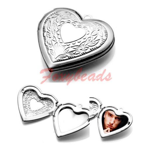 1X-Leaf-Heart-Friend-Love-Photo-Picture-Frame-Locket-Pendant-for-Necklace-Gift
