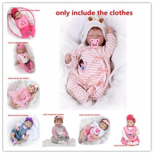 """Low Price Reborn Baby/'s Clothes One Set For 20-23/"""" Baby Girl Doll Dress Outfits"""