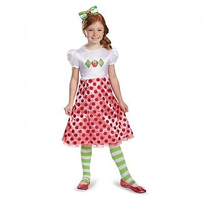 Girls Strawberry Shortcake Costume Fancy Dress Short Cake Toddler Child Kids NEW (Girls Strawberry Shortcake Costume)