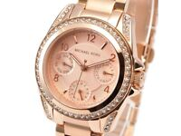 Ladies Michael Kors Mini Blair rose gold watch - mint condition with box