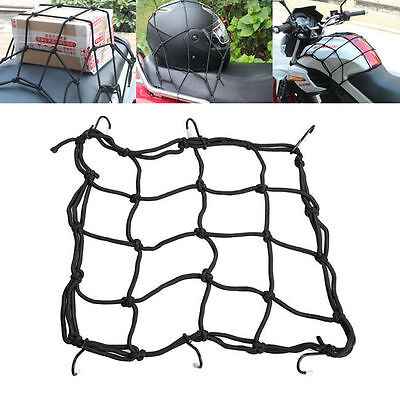 6 Hooks Hold Down Cargo Luggage Helmet Net Mesh for Motorcycle Motorbike UEV