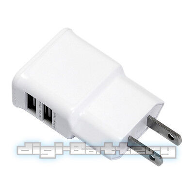 2-Harbour USB Charger Home Power Outlet AC Wall Plug Adapter for iPhone 4 5 5s 5c 6