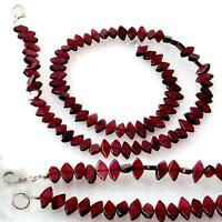 MARQUISE GARNET GEMS & 925 STERLING SILVER NECKLACE –18""