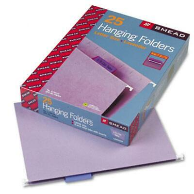 Smead 64064 Hanging File Folders- 15 Tab- 11 Point Stock- Letter- Lavender- ...