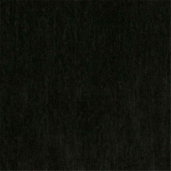 Designer Fabrics D783 54 in. Wide Black Chenille Commercial Residential And C...
