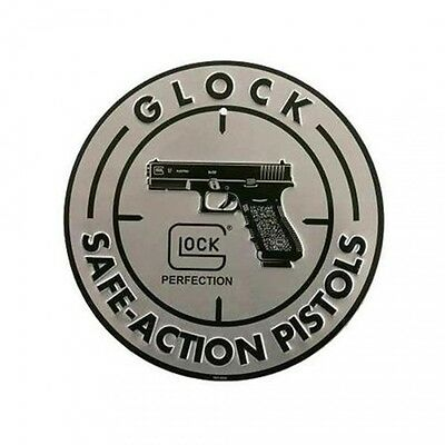 Glock  Factory OEM Safe Action 12 Inch Diameter Circular Aluminum Sign