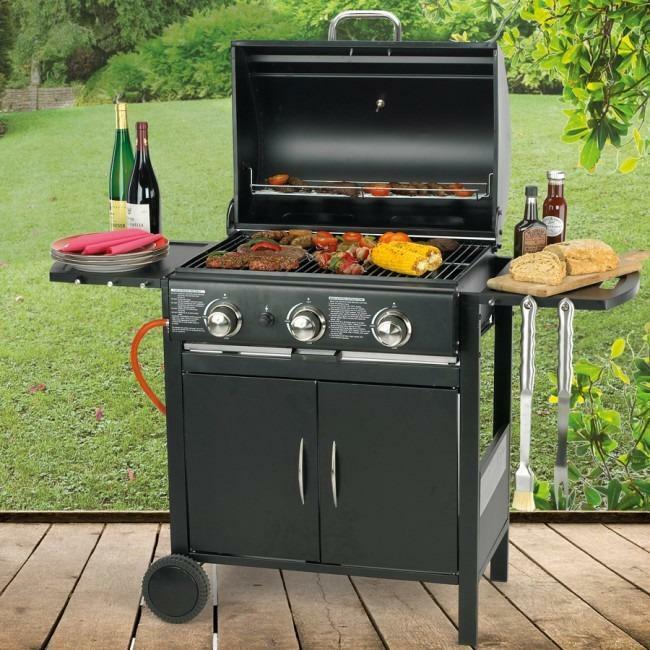 Flame Master Bbq.New Gas Barbecue Flame Master Professional Chef 3 Burner In