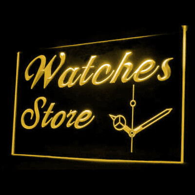 190079 Watch Store Battery Repair Band Used Mechanical Advanced LED Light Sign