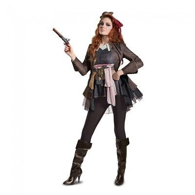 Disguise PoTC5 Captain Jack Sparrow Deluxe Adult Womens Halloween Costume 22937
