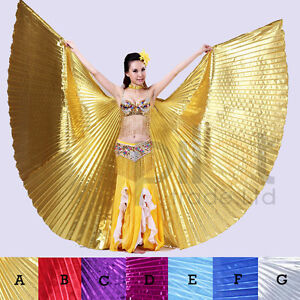 Egyptian-Egypt-Belly-Dance-Costume-Isis-Wings-Dance-wear-no-stick-7-colors