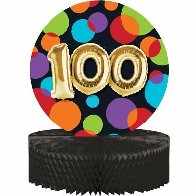 100th Birthday Balloons (Gold Balloon Birthday 100th Birthday Honeycomb Centerpiece 100 Party)
