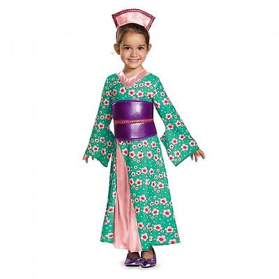 Girls Geisha Princess Kimono Fancy Dress Toddler Kids Child Halloween Gown NEW