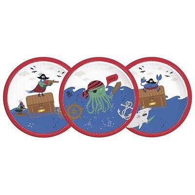 Pappteller Tierische Piraten-Crew 8er Pack