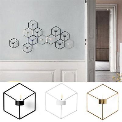 3 Kerze Wandleuchte (Nordische 3D-Stil geometrische Leuchter Art Kerze Halter Wandleuchte passend)