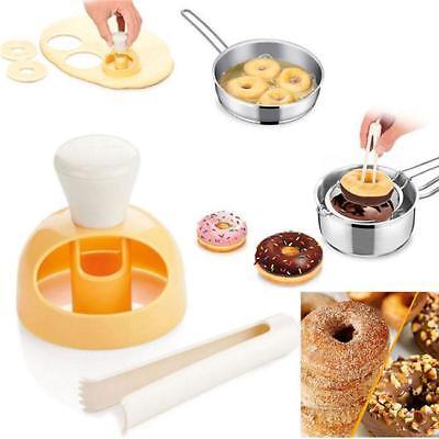 New Donut Maker Cutter Mold Fondant Cake Bread Desserts Bakery Mould Tool Diy J