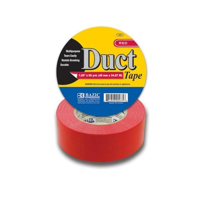 BAZIC 975 1.88  X 60 Yards Red Duct Tape Pack of 12