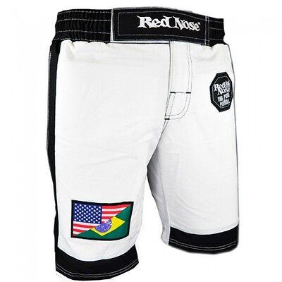 NEW Red Nose Pitbull Brazilian Jiu-Jitsu MMA Shorts BJJ Grappling Pants - WHITE Brazilian Jiu Jitsu Shorts