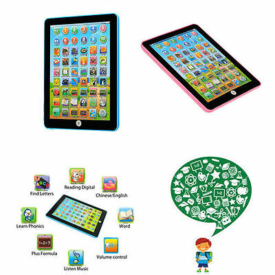 $6.99 - Tablet Pad Computer For Kid Children Learning English Educational Teach Toy Gift