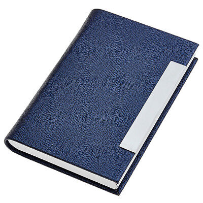 New Hot Pocket Blue Pu Leather Name Business Card Case Holder 2