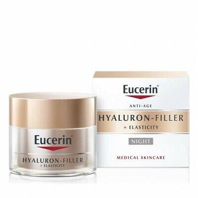 Eucerin Hyaluron Filler + Elasticity Night Cream 50ml US Seller