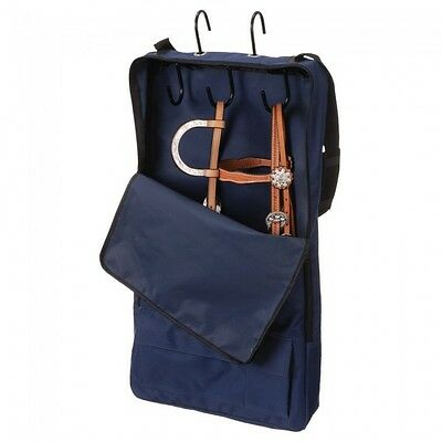 Tough-1 Bridle/Halter Carrier w/ 3 Prong Tack Rack  --NAVY BLUE  --NWT