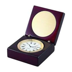 Creative Gifts International 069956 1 in. Square Wood Box with Clock & Engrav...