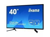 "40"" iiyama monitor, 18 Months WARRANTY ! X4071UHSU-B1 MVA, 4K 3840x2160, 12,000,000:1"