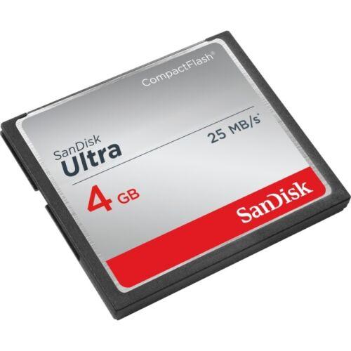 Genuine SanDisk 4 GB Ultra CompactFlash CF Memory Card SDCFHS-004G for DSLR