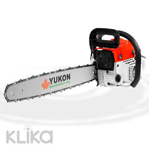 NEW YUKON 52cc PETROL CHAINSAW 22 inch BAR 2-STROKE TREE LOG CHAIN SAW