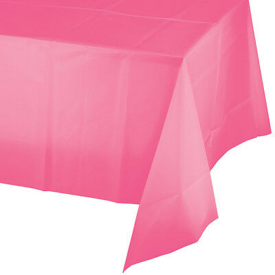 Candy Pink Plastic Banquet Tablecloth 54