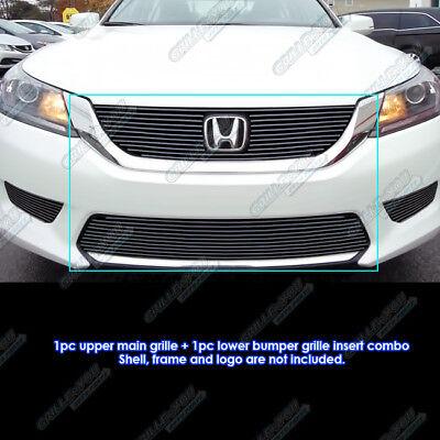 Honda Accord Billet Grille - Fits 2013-2015 Honda Accord Sedan Bolt Over Black Billet Grille Combo
