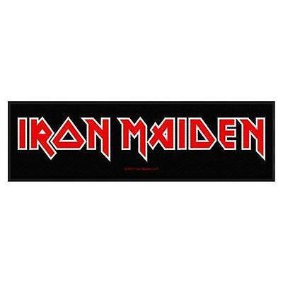 OFFICIAL LICENSED - IRON MAIDEN - LOGO SEW ON STRIP PATCH METAL EDDIE