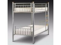 CHEAP PRICE EVER !! Metal Bunk Bed Frame £89 With 2 x Mattresses £189 !! SAME DAY EXPRESS DELIVERY
