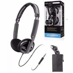 GENUINE NEW in BOX FACTORY SEAL Sennheiser PX 100-II Black On-Ear Stereo Headphones PX100II PX100 II /GENUINE