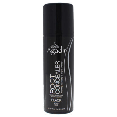 Root Concealer Temporary Touch Up Spray - Black by Agadir - 2 oz Hair Color