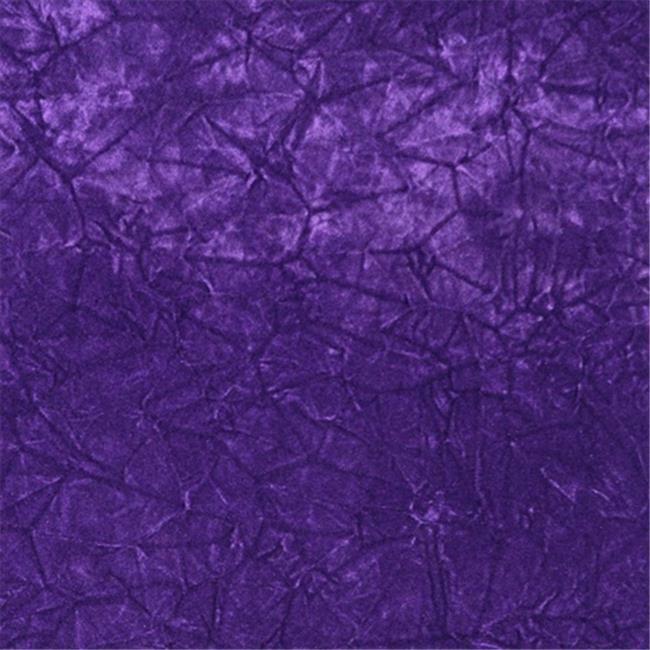 Designer Fabrics C864 54 in. Wide Purple Classic Crushed Velvet Residential C...