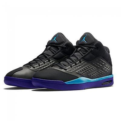 AIR JORDAN NEW SCHOOL AQUA'S 768901 008 BLACK/BLUE LAGOON-BRIGHT CONCORD PURPLE - Aqua Blue Jordans