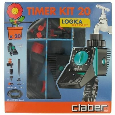 Claber Inc Logica Drip Kit With Water Timer 90766