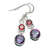 Garnet 925 Sterling Silver Earrings