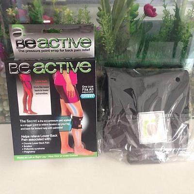 Black Sport Be Active Lower Back Relief Brace Beactive Pressure Point Wrap Y