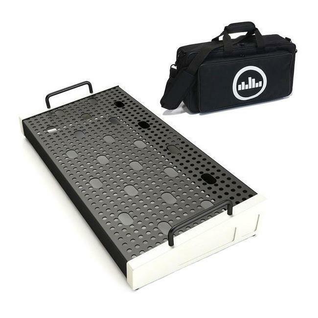 """Temple Audio Design Solo 18 (18"""" x 8.5"""") Pedalboard w/Soft Case Vintage White"""