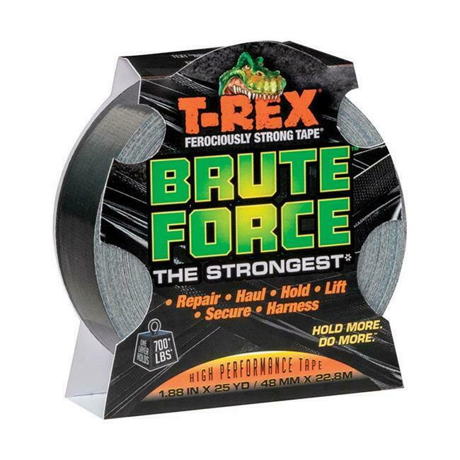 T-Rex 4908257 Brute Force 1.88 in. x 25 Yards Black Duct Tape