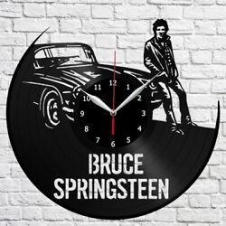 Bruce Springsteen Vinyl Record Wall Clock Fan Art Home Decor Original Gift 3840
