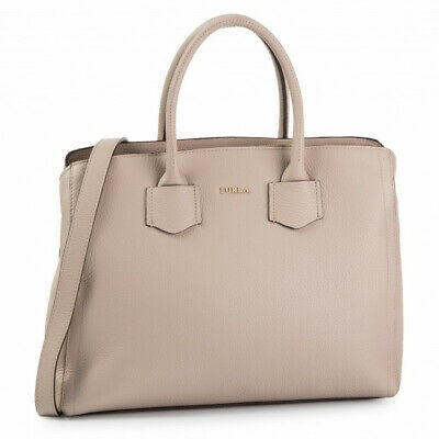 Woman Handbag Furla Alba Medium Tote 1033258 in beige leather shoulder bag
