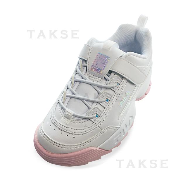 Fila Disruptor II GS Boy/'s// Women/'s Walking Shoes Black//White//Red FW04544-014