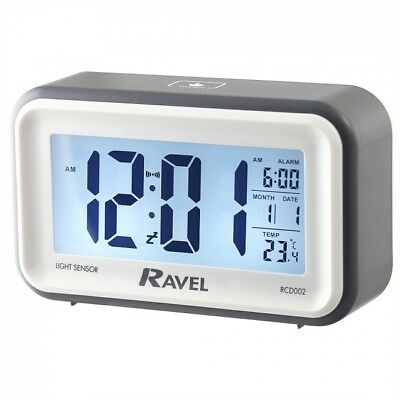 Quartz LCD Touch Sensitive Snooze and Light Alarm Clock - Grey /...